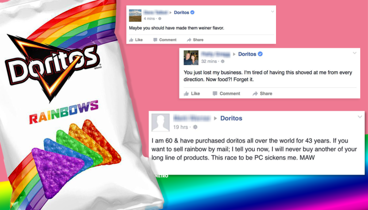 This Guy Has Been Hilariously Trolling Bigots Angry About Rainbow Doritos mg doritoslgbt comp