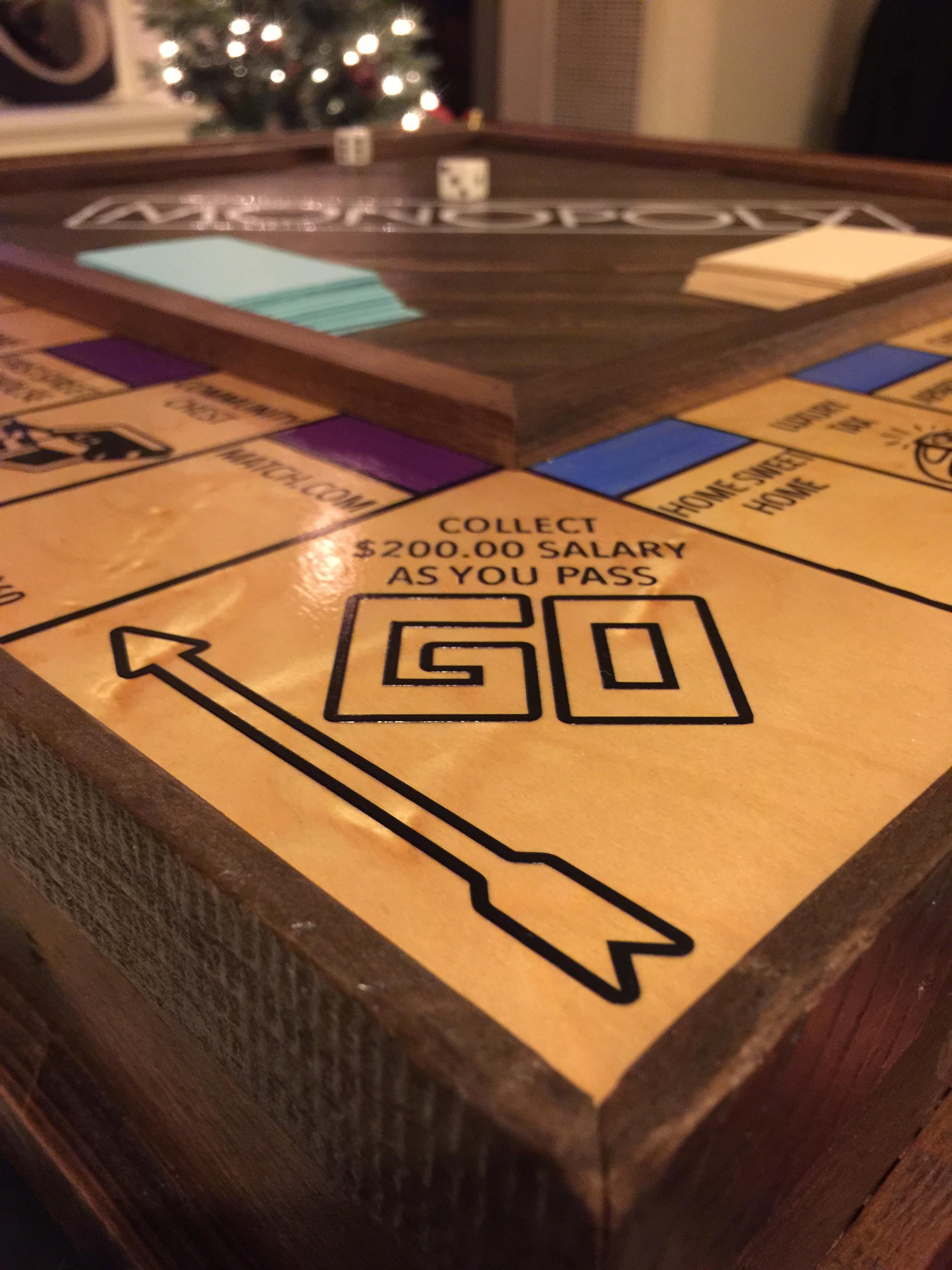 Guy Handcrafts Monopoly Board To Propose To His Girlfriend