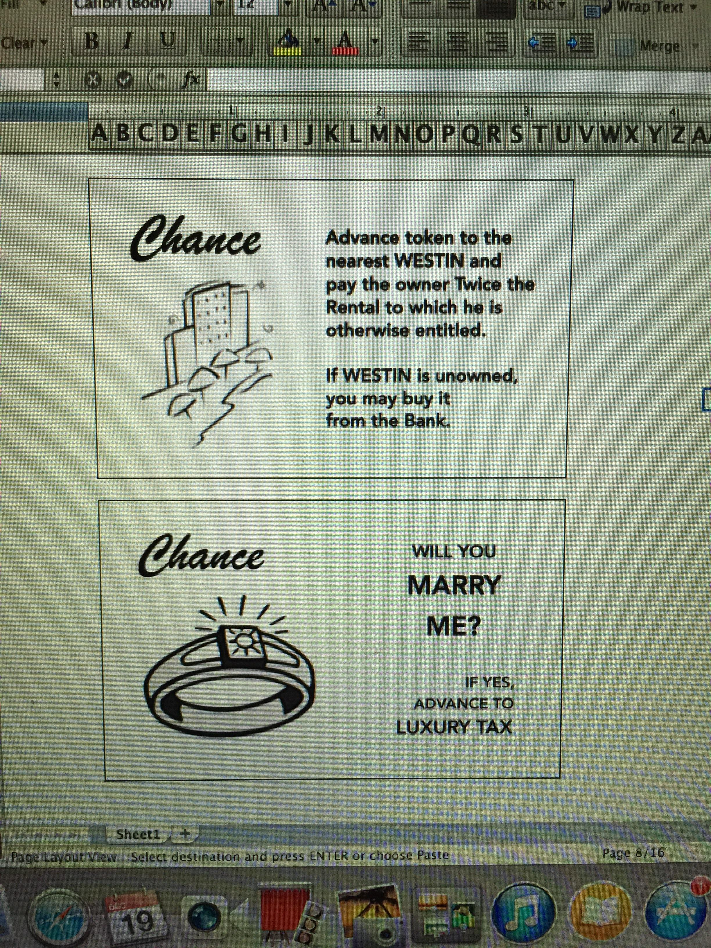 Guy Handcrafts Monopoly Board To Propose To His Girlfriend In An Amazing Way mono3