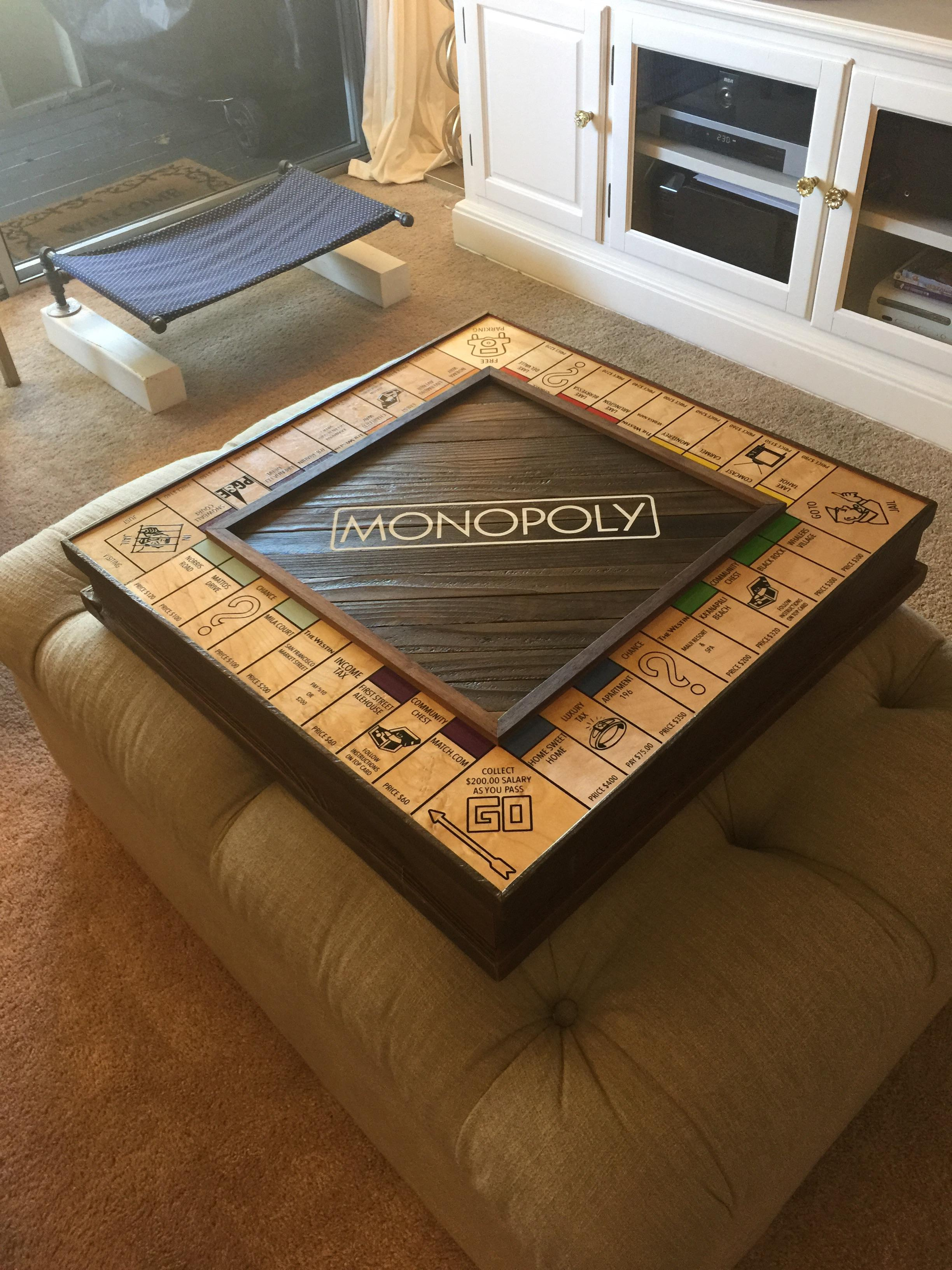 Guy Handcrafts Monopoly Board To Propose To His Girlfriend In An Amazing Way mono8
