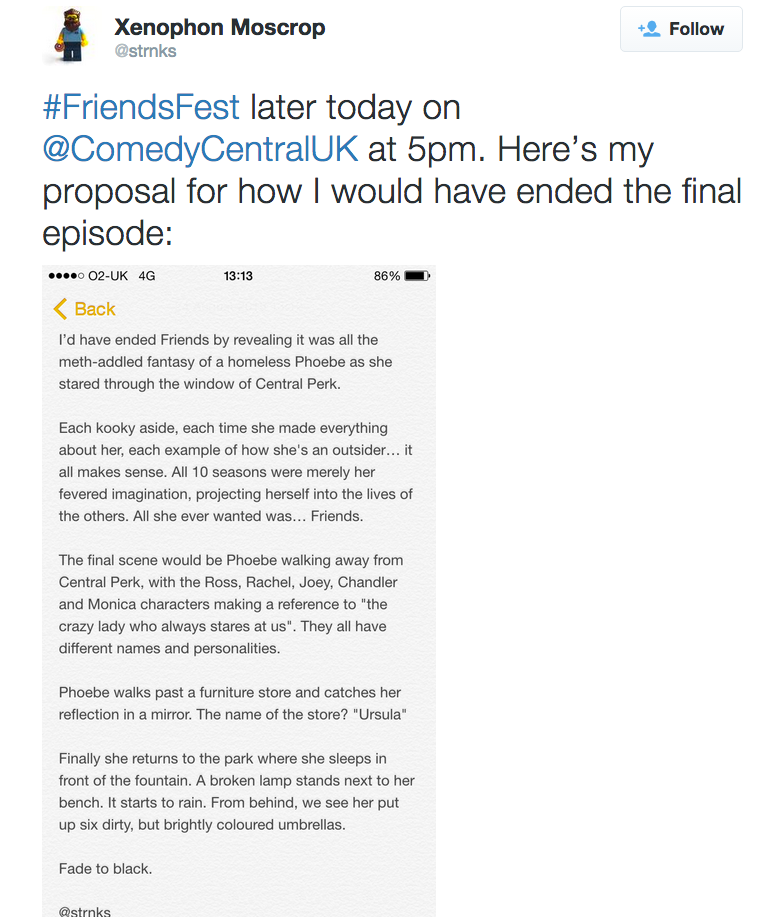 One Fan Theory About The Ending Of Friends Has Broken The Internet phoebe