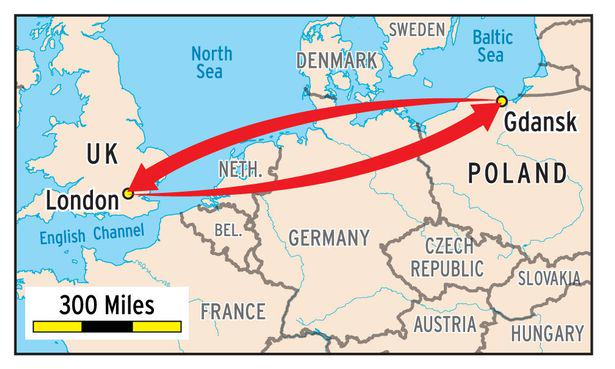 One Student Commutes From POLAND All The Way To His London University To Save Cash poland3