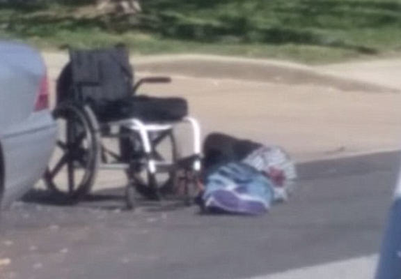 Police Caught On Camera Shooting And Killing Armed Man In A Wheelchair policeshot3