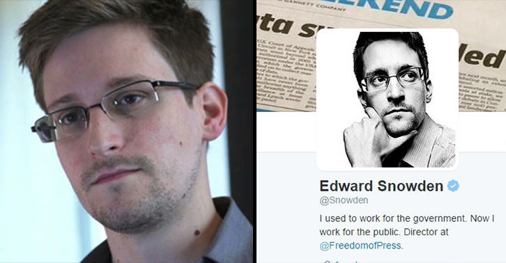 Edward Snowden Joined Twitter And Sent The Perfect First Tweet snowden twitter FB