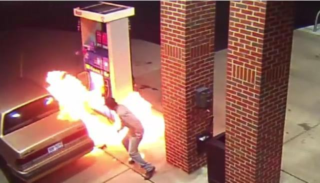 WATCH: Man Attempts To Kill A Spider With Fire At A Gas Station %name