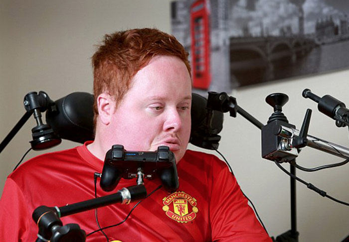 Worlds First Mouth Controlled Playstation Built For Disabled FIFA Fan will1