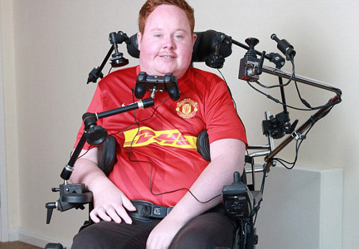 Worlds First Mouth Controlled Playstation Built For Disabled FIFA Fan will2