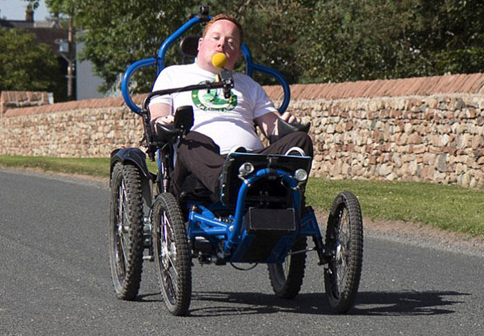 Worlds First Mouth Controlled Playstation Built For Disabled FIFA Fan will3