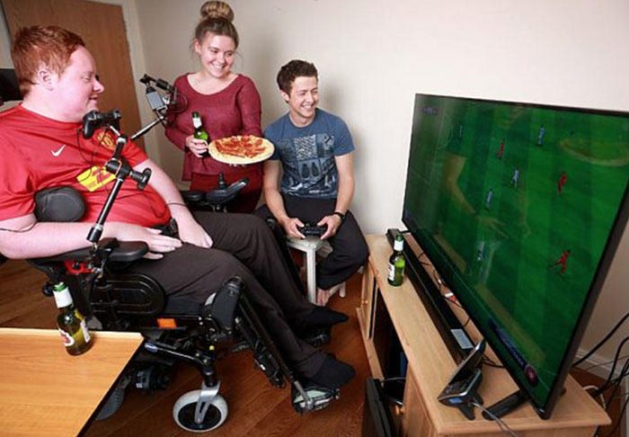 Worlds First Mouth Controlled Playstation Built For Disabled FIFA Fan willthumb