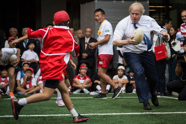 Watch Boris Johnson Rugby Tackle A Japanese Schoolboy, Because Why Not UNILAD 182