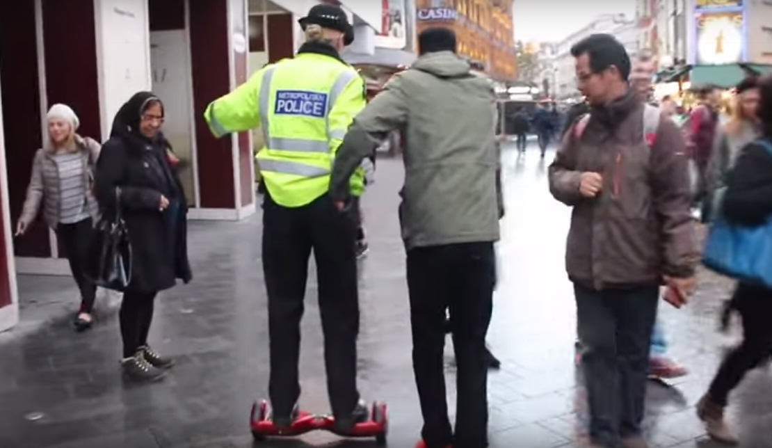 These Lads Managed To Get A Policewoman To Ride An 'Illegal' Swegway UNILAD 262027