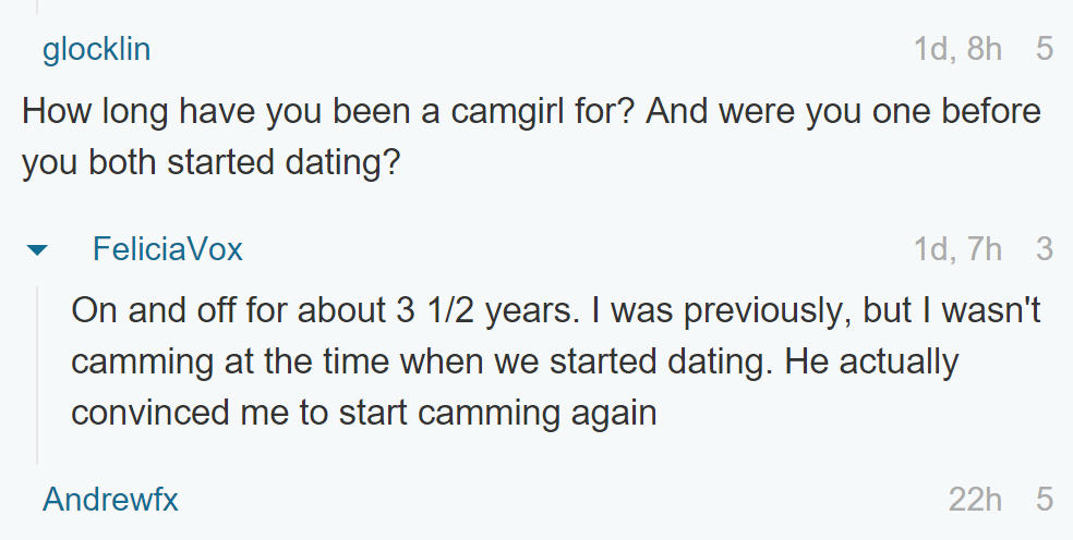 A Cam Girl Whose Boyfriend Is A Stripper Did An Ask Me Anything UNILAD 47