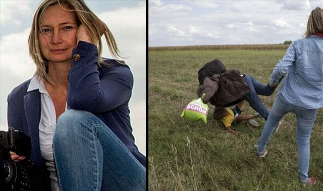 Hungarian Camerawoman Who Kicked Refugee Now Plans To Sue Him UNILAD Camera Bitch 4097090823 640x378