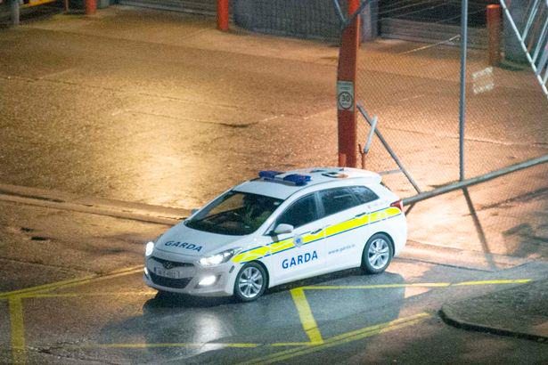 Garda-vehicles-depart-the-scene-of-the-examination-of-an-Aer-Lingus-at-Cork-Airport