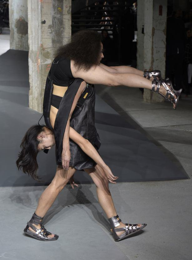 Rick Owens Sent Models Down The Catwalk Wearing Other Models, Obviously UNILAD Rick Owens show Giovanni Giannoni WWD REX Shutterstock5