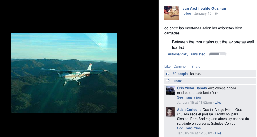 El Chapo Jrs Facebook Gives An Insight Into The World Of Drug Cartels UNILAD Screen Shot 2015 07 16 at 2.00.53 PM67476