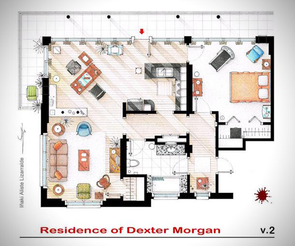 Someone Has Drawn The Floorplans Of Popular TV Show Apartments UNILAD Screen Shot 2015 10 04 at 20.18.085