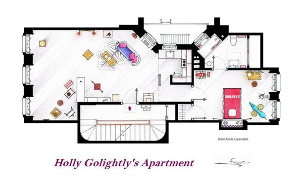 Someone Has Drawn The Floorplans Of Popular TV Show Apartments UNILAD Screen Shot 2015 10 04 at 20.19.482