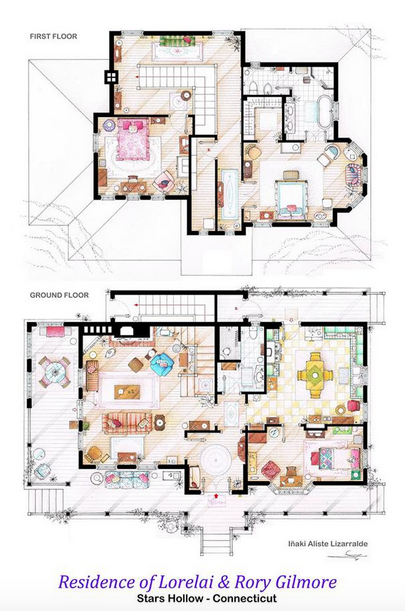 Someone Has Drawn The Floorplans Of Popular TV Show Apartments UNILAD Screen Shot 2015 10 04 at 20.20.575