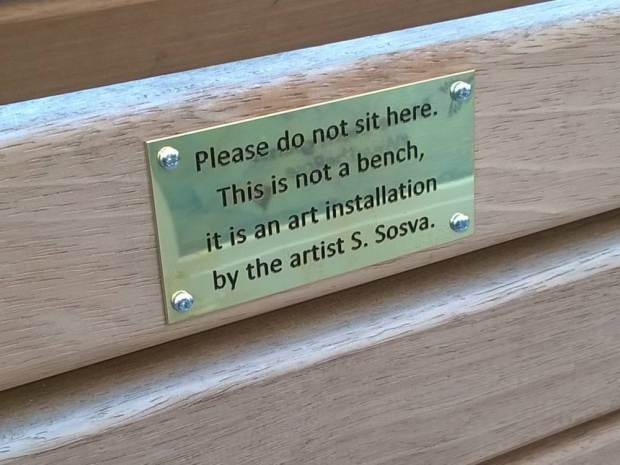 Council Remove Funny Spoof Plaques From Benches As They Might Offend People UNILAD ad 18475307338970