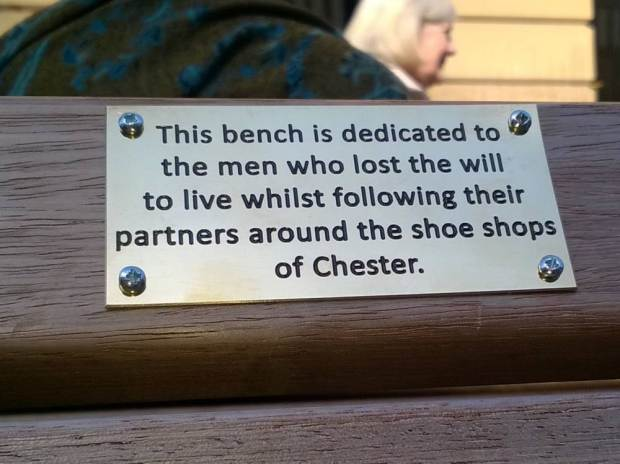 Council Remove Funny Spoof Plaques From Benches As They Might Offend People UNILAD ad 18475321490520