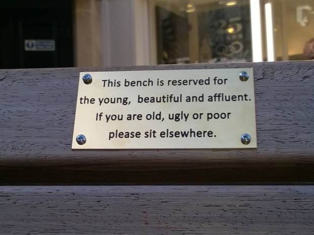 Council Remove Funny Spoof Plaques From Benches As They Might Offend People UNILAD ad 18475330467845