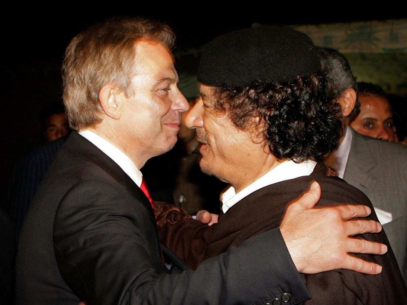 Leaked Email Shows Tony Blair Told Gaddafi To Hide And Avoid Capture UNILAD blair gaddafi4