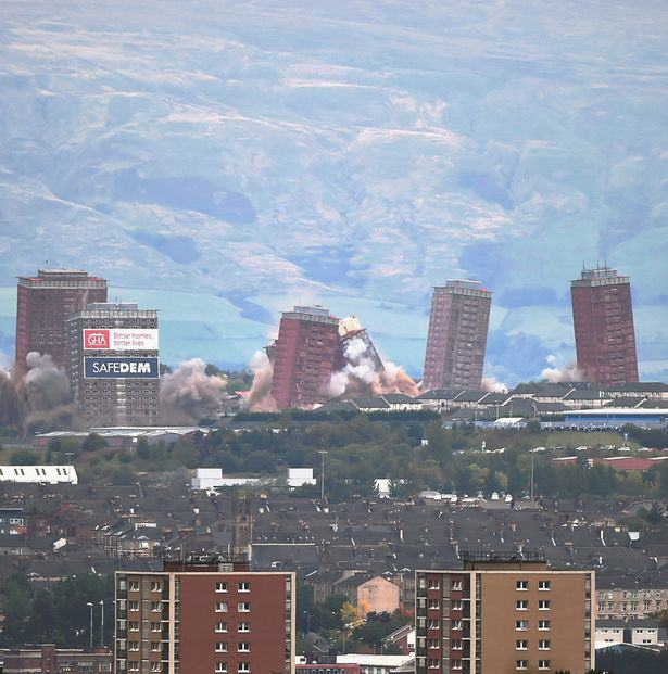 Iconic Glasgow Red Tower Flats Demolished In Only Seven Seconds UNILAD blocks29
