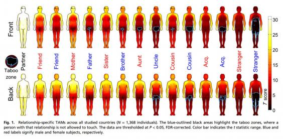 Body Map Shows Where Men And Women Are Comfortable Being Touched UNILAD body map220052