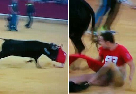 Bull Runner Caught With Pants Down When Animal Rips Off His Trousers And Underwear UNILAD bull pants WEB80093