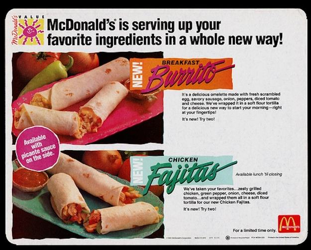 Discontinued McDonalds Food Items You Forgot Existed UNILAD burrito3