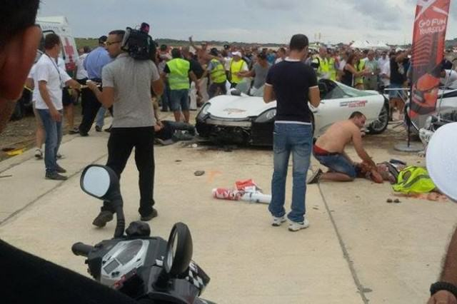 WATCH: British Millionaire Crashes Supercar Into Crowd And Injures 20 People %name