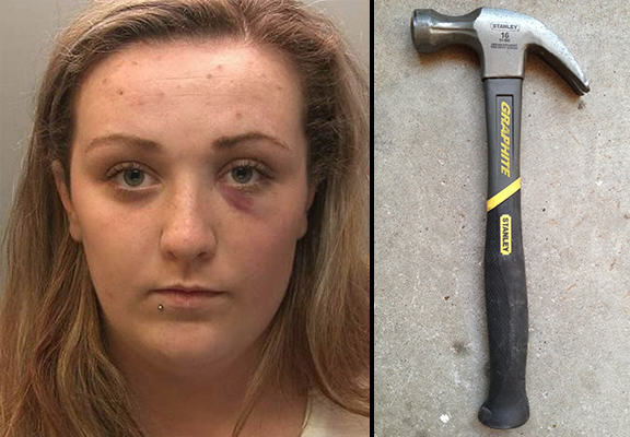 Woman Went On Rampage With Claw Hammer After Downing 22 Beers UNILAD claw hammer WEB9