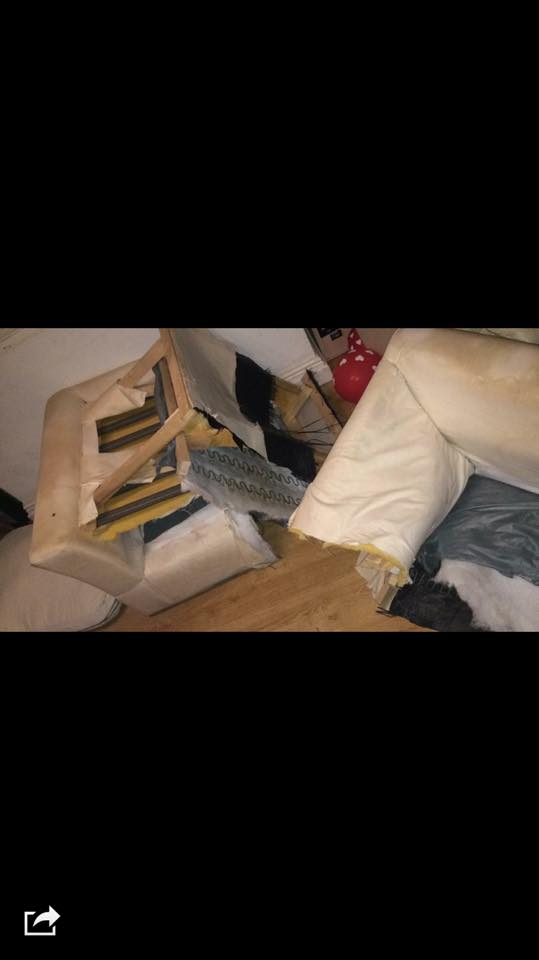 Woman Tries To Sell Broken Sofa, Guy Teaches Her Epic Lesson UNILAD couch troll 1140429