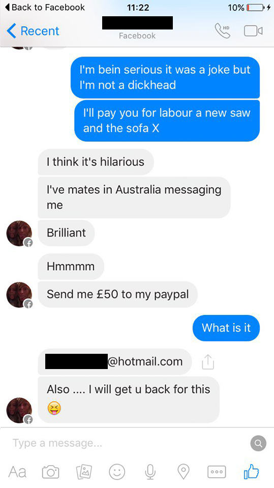 Woman Tries To Sell Broken Sofa, Guy Teaches Her Epic Lesson UNILAD couch troll new 1236548