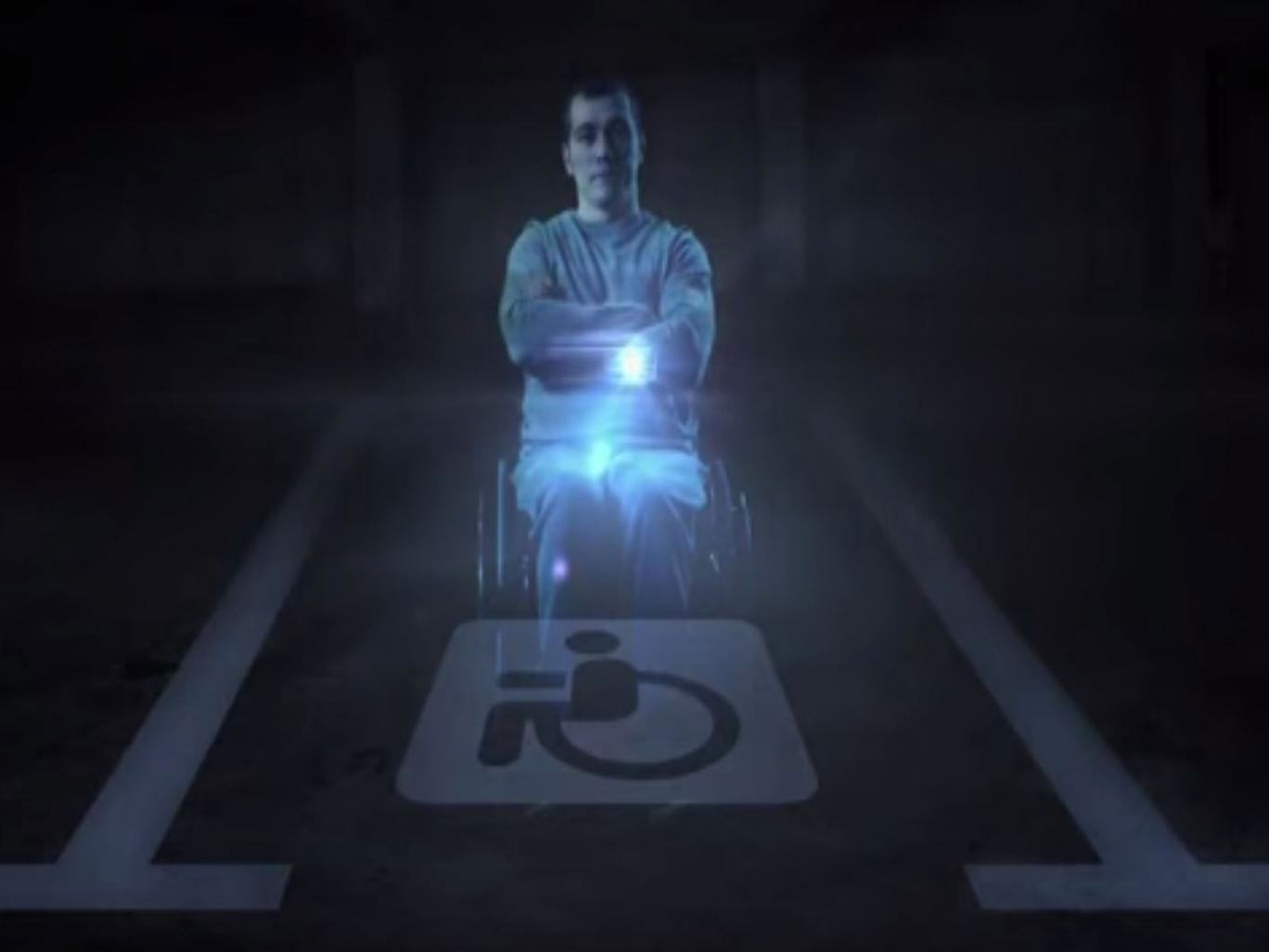 Russia Has A Creative Way Of Stopping People Parking In Disabled Bays UNILAD disabled hologram 115833
