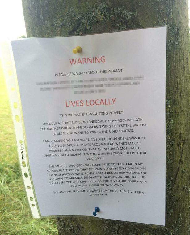 Bizarre Note In Park Warns Of Dirty Dogger Who Touched Writers Special Place UNILAD dogger warning13