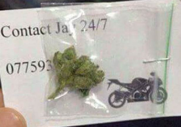 Someone In Manchester Is Handing Out Free Weed With Business Cards UNILAD free weed 12