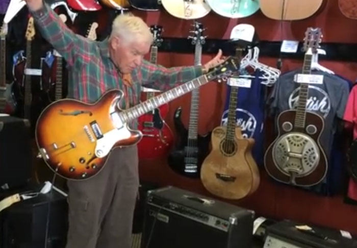 Rockstar Granddad Shreds Epic Guitar Solo Leaving Music Shop Staff In Awe UNILAD granddad322133