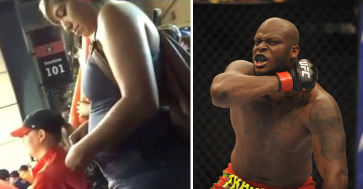 UFC Fighter Derrick Lewis Posts Video Of Pregnant Woman Snorting Something At Baseball Game UNILAD lewis video 22