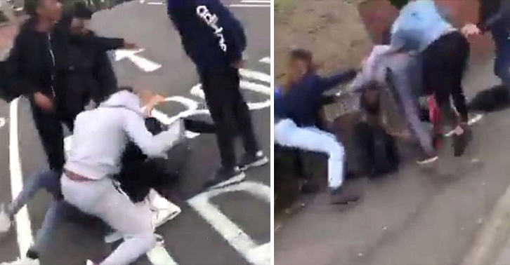 Massive Brawl Erupts Between Hundreds Of Teenagers In London During Rush Hour UNILAD mass brawl 43