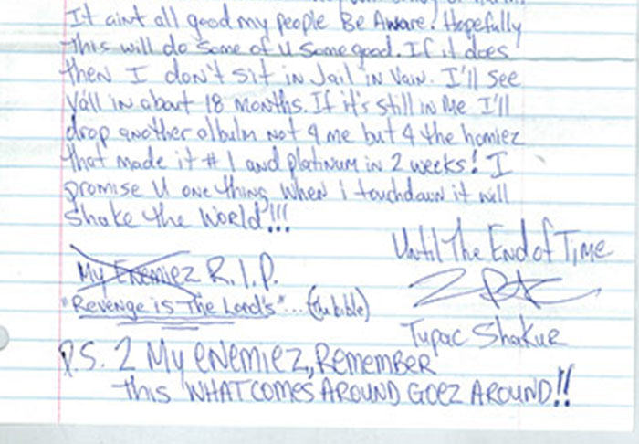 Letter Penned By Tupac From Prison Before His Death Is Leaked UNILAD pac26