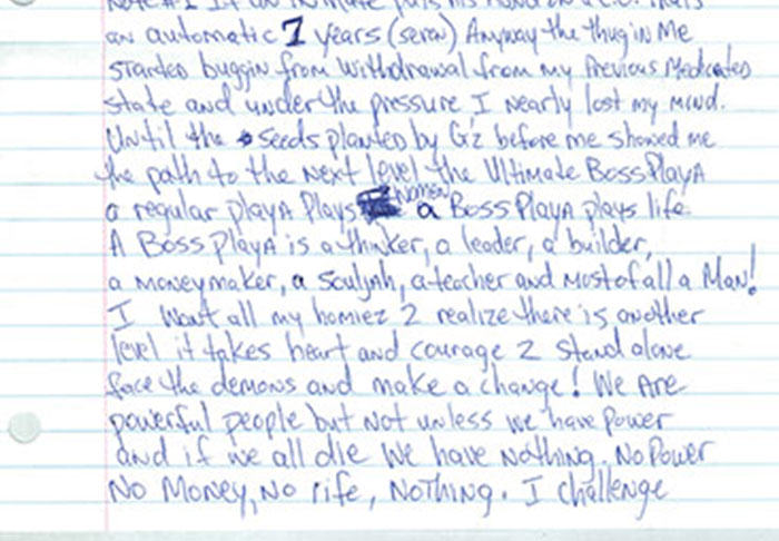 Letter Penned By Tupac From Prison Before His Death Is Leaked UNILAD pac43
