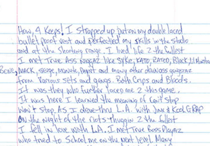 Letter Penned By Tupac From Prison Before His Death Is Leaked UNILAD pac55