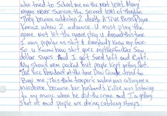 Letter Penned By Tupac From Prison Before His Death Is Leaked UNILAD pac66