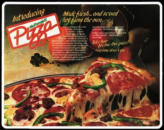 Discontinued McDonalds Food Items You Forgot Existed UNILAD pizza16