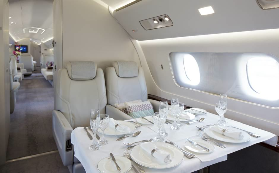 This Plush Interior Of This £34 Million Jet Is Ridiculous UNILAD private jet 329459
