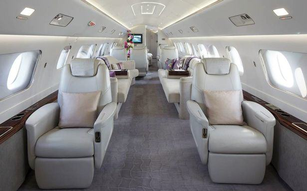 This Plush Interior Of This £34 Million Jet Is Ridiculous UNILAD private jet 44163