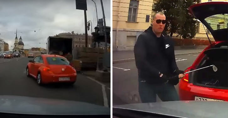 Angry Russian Driver Smashes Car Windscreen With Golf Club In Road Rage Incident UNILAD russian road rage 4177293049