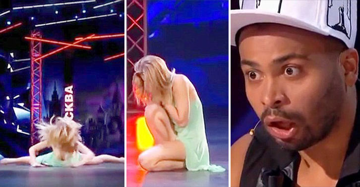 Russian Talent Show Contestant Breaks Her Nose Doing The Splits UNILAD russian splits 542588212